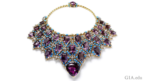 Duchess of Windsor amethyst necklace