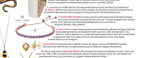 Tsai x Tsai Bracelet features on Tatler May 2018