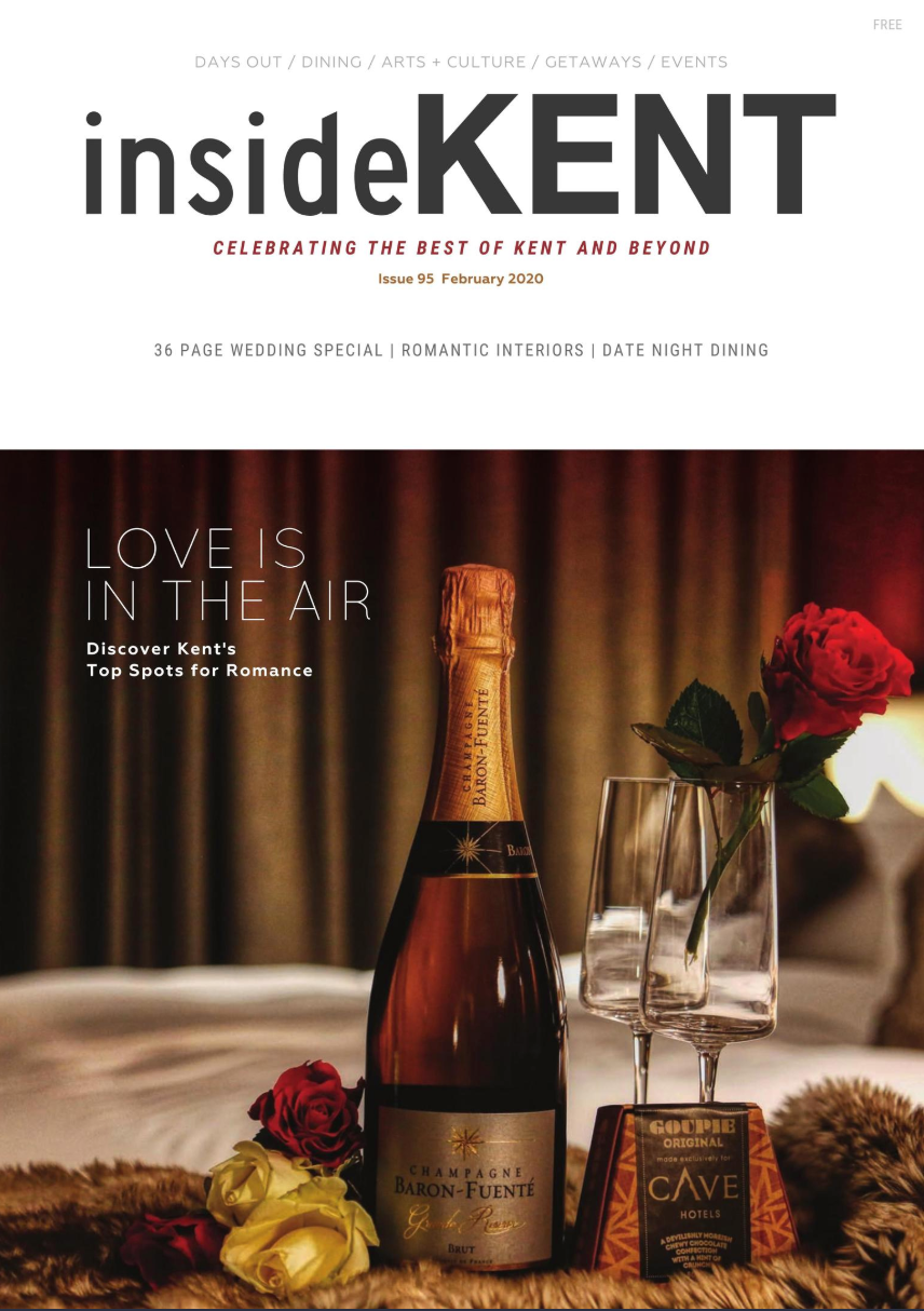 insideKENT Magazine feb 2020 cover with wedding special