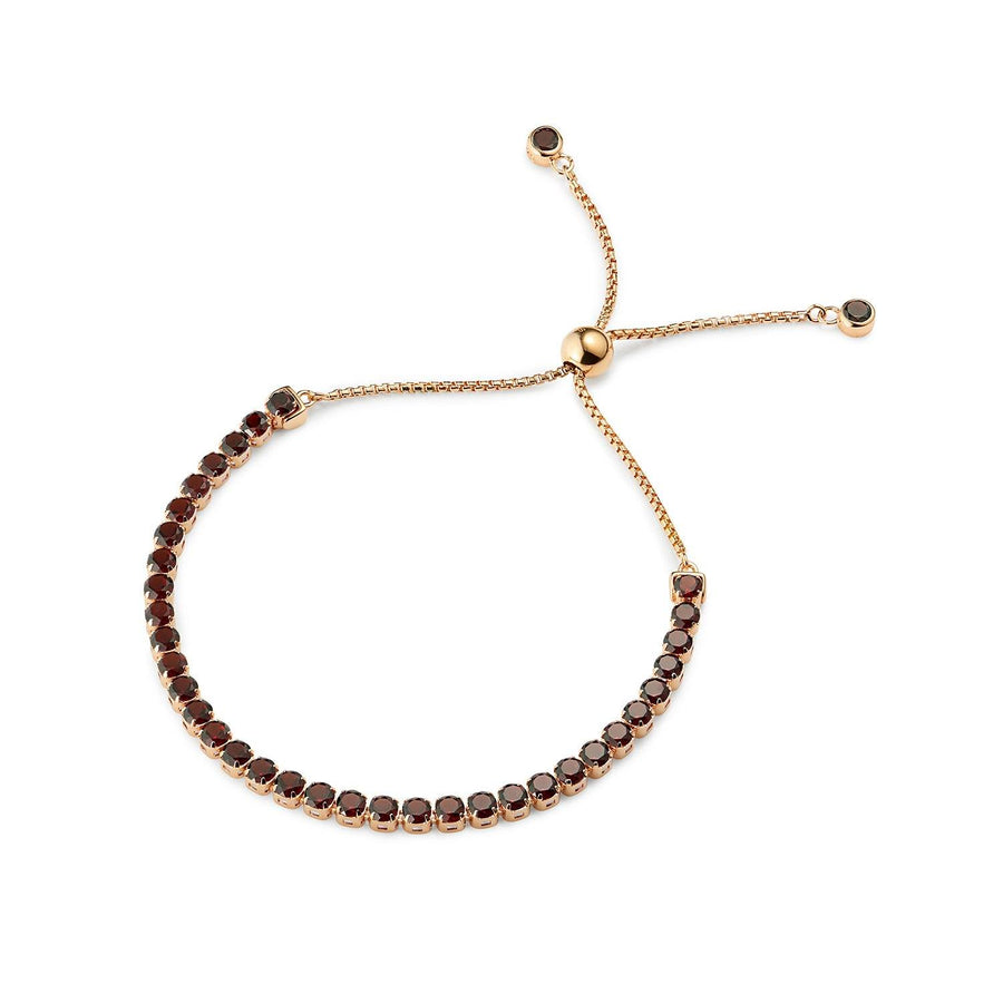 Zhongshan Garnet adjustable Bracelet, 18 ct Rose Gold Vermeil - Tsai x Tsai