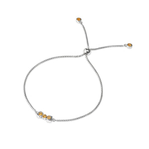San Shi Citrine adjustable bracelet, 925 sterling silver - Tsai x Tsai | Luxury Gemstone Jewellery Gift