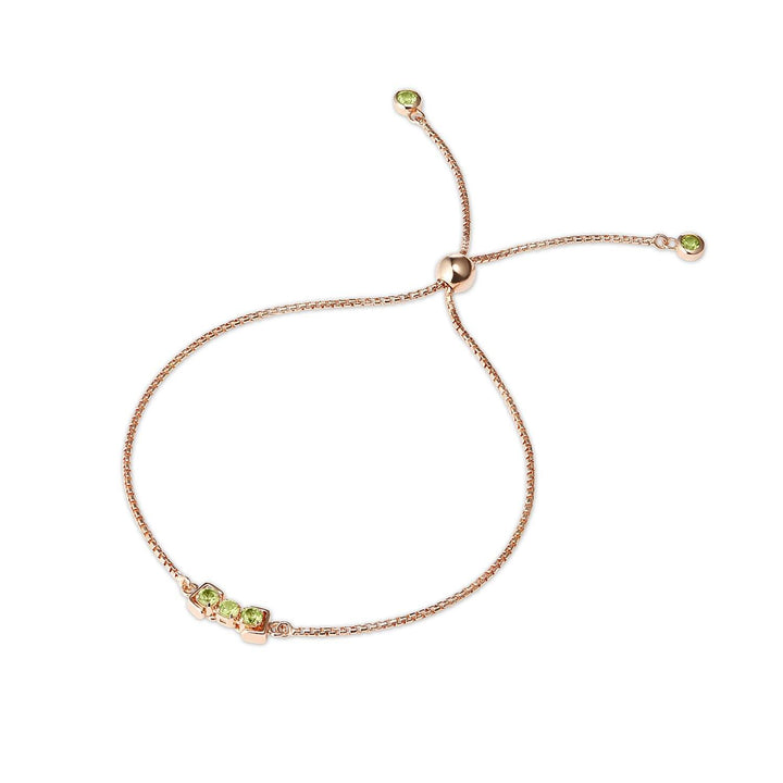 San Shi Peridot Bracelet, 18 ct Rose Gold Vermeil - Tsai x Tsai | Luxury Gemstone Jewellery Gift