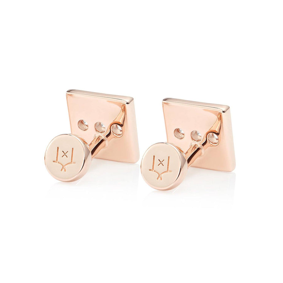 San Shi White Topaz Cufflinks, 18 ct Rose Gold Vermeil - Tsai x Tsai | Luxury Gemstone Jewellery Gift