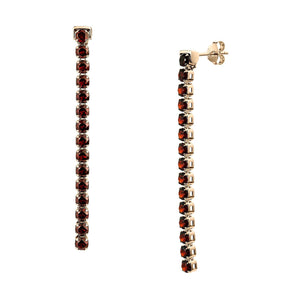 Zhongshan Garnet Earrings, 18ct Rose Gold Vermeil