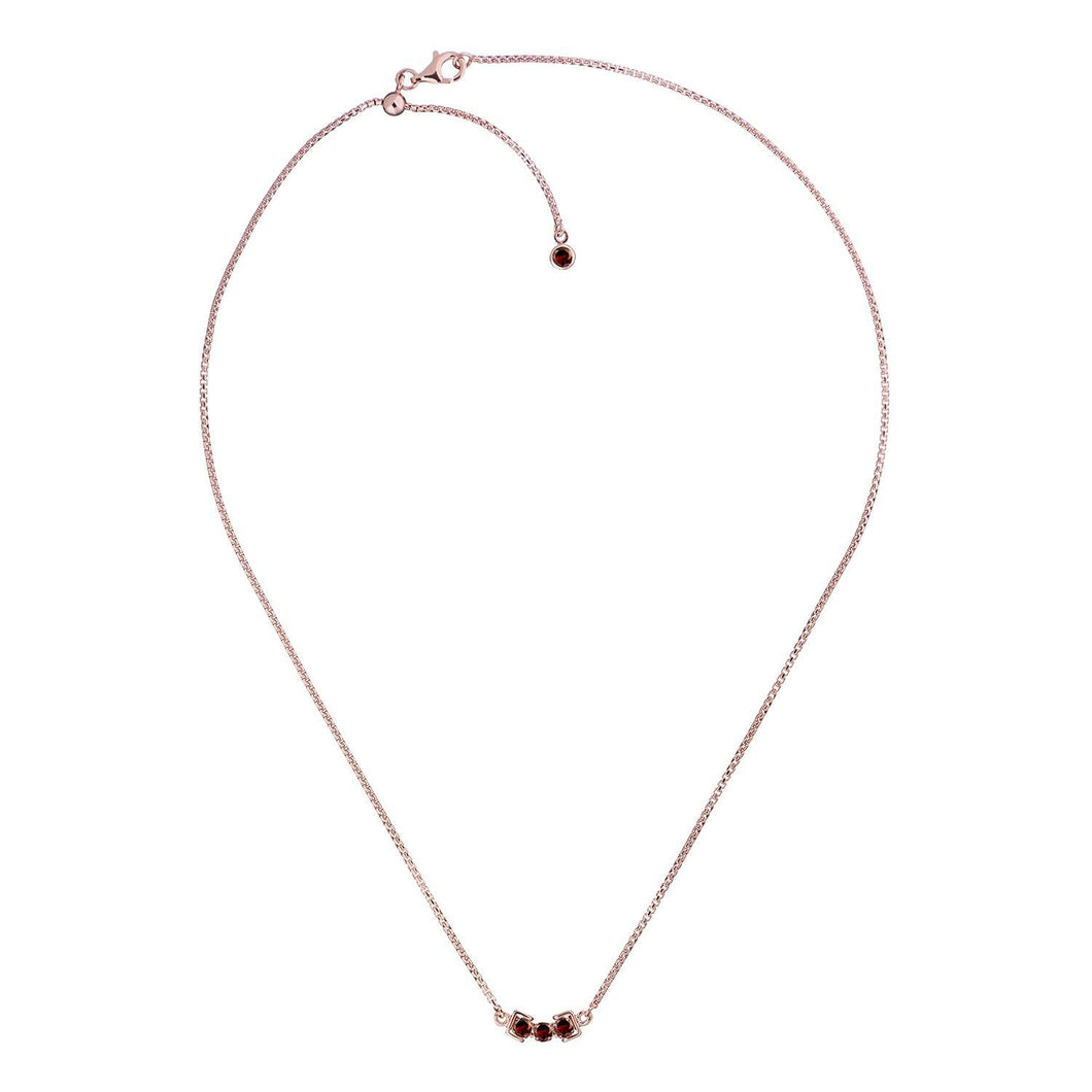 San Shi Garnet Necklace, 18 ct Rose Gold Vermeil - Tsai x Tsai