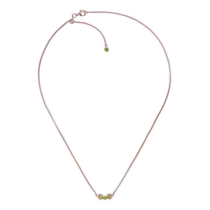 San Shi Peridot Neckalce, 18 ct Rose Gold Vermeil - Tsai x Tsai | Luxury Gemstone Jewellery Gift