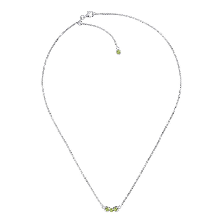 San Shi Peridot Necklace, Sterling Silver - Tsai x Tsai | Luxury Gemstone Jewellery Gift