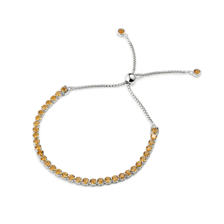 Beitou Citrine Adjustable Bracelet 925 Sterling Silver - Tsai by Tsai Luxury Natural Gemstone Jewellery Gift