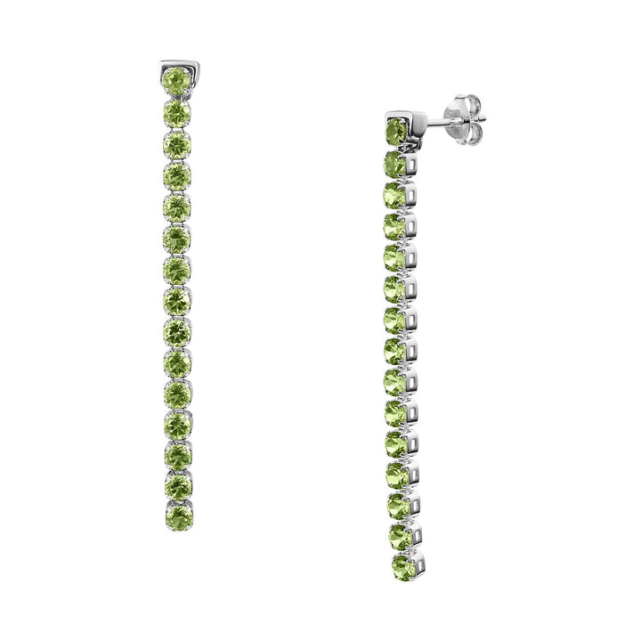 Pinglin Peridot Earrings, Sterling Silver - Tsai x Tsai