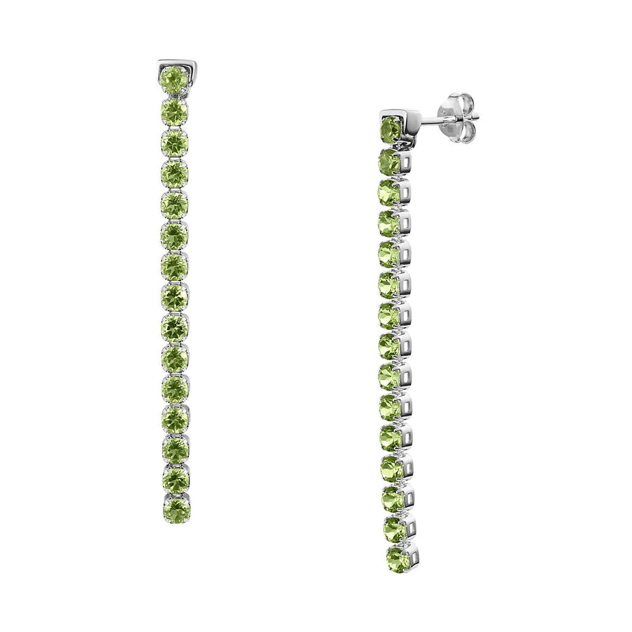 Pinglin Peridot Earrings, Sterling Silver - Tsai x Tsai | Luxury Gemstone Jewellery Gift