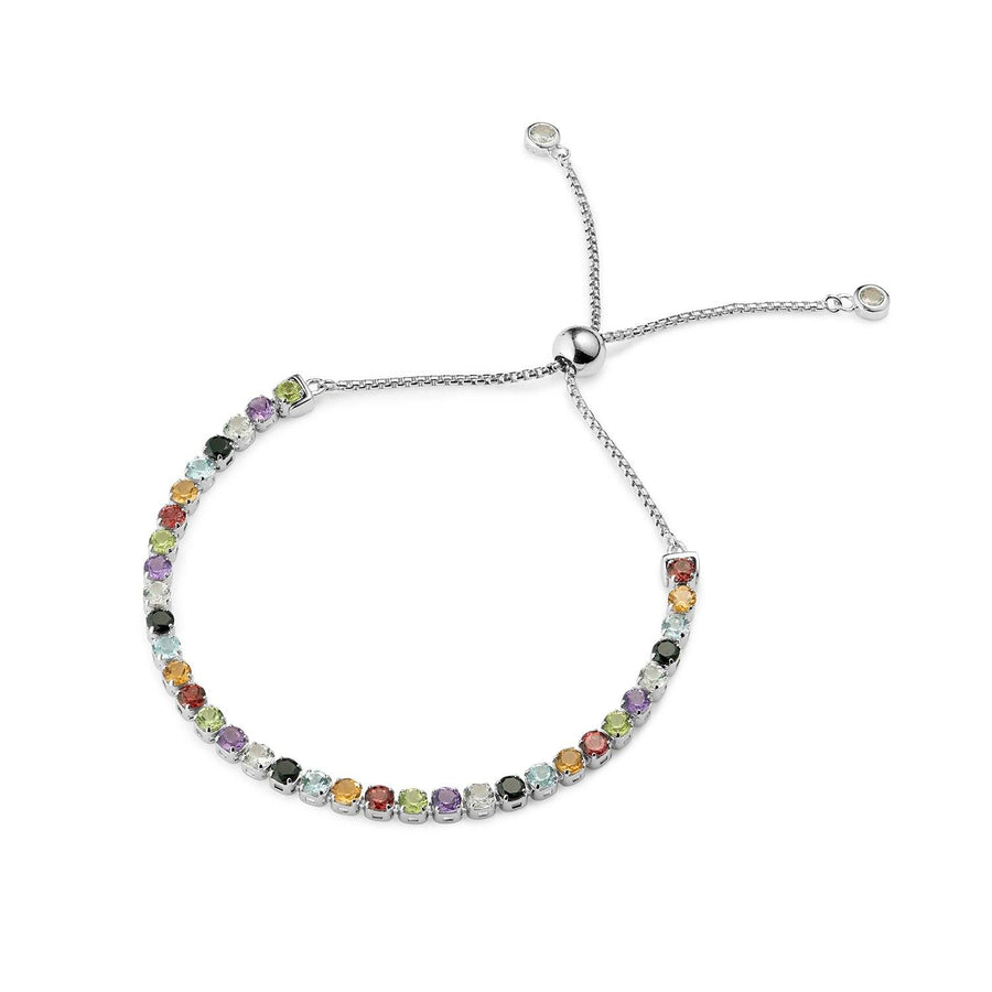 Sanchong Rainbow Gemstones Bracelet, Sterling Silver - Tsai x Tsai | Luxury Gemstone Jewellery Gift