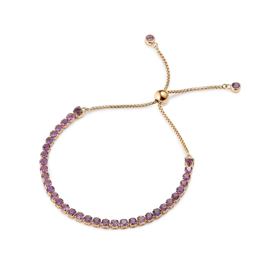 Wanli Amethyst Bracelet, 18 ct Rose Gold Vermeil - Tsai x Tsai | Luxury Gemstone Jewellery Gift