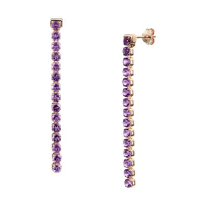 Wanli Amethyst Earrings, 18 ct Rose Gold Vermeil - Tsai x Tsai