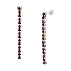 Zhongshan Garnet Earrings, Sterling Silver - Tsai x Tsai