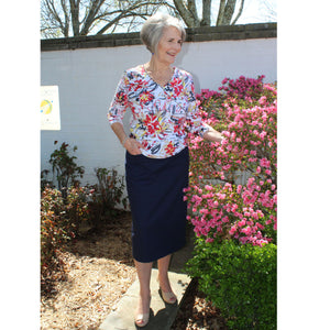 Blue Pencil Skirt, Lady by Design Apparel