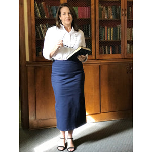 Classic Pencil Skirt - Navy, Lady by Design