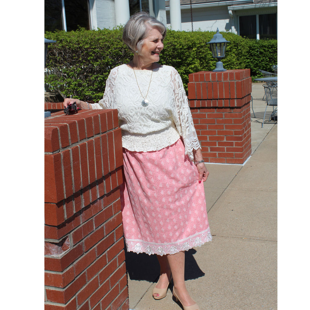 Eyelet Skirt - Rose, Lady by Design Apparel