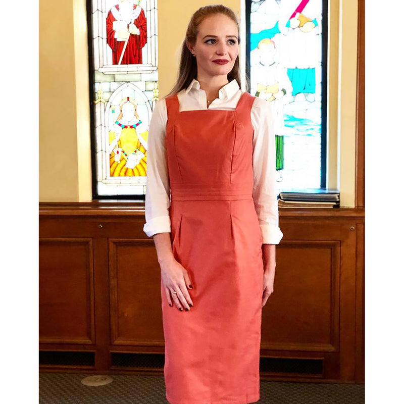 Square Collar Dress - Blush, Lady by Design Apparel