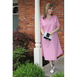 Sheath Style Dress - Blush, Lady by Design Apparel