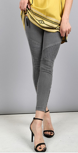 Moto jeggings leggings stretchy
