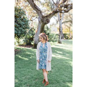 Boho Crochet Trim Mini Dress or Tunic - Sage