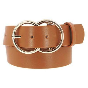 Vegan Leather Double O Belt