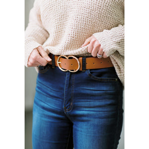 Vegan Leather Double O Belt - RE-STOCK