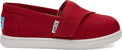 Red Canvas Tiny TOMS Classics