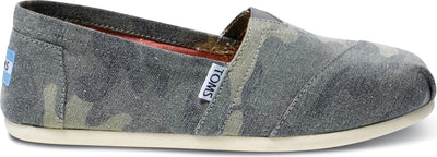 Washed Camo Canvas Women's Classic Alpargata