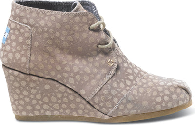 Taupe Moroccan Suede Women's Desert Wedge