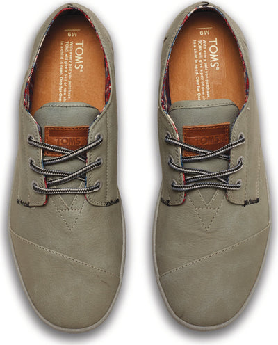 Cool Grey Synthetic Leather Men's Paseos