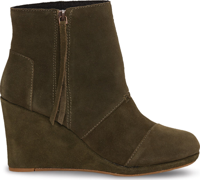 Olive Suede Women's Desert Wedge