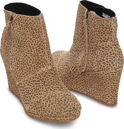 Cheetah Pattern Suede Women's Desert Wedge