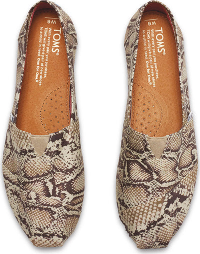 Natural Canvas Snake Women's Classics