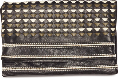 Black Woven Leather Crossbody