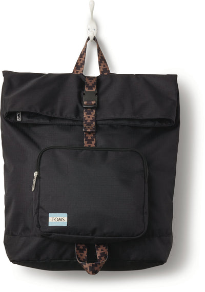 Black Solid 600D Stand-Up Backpack