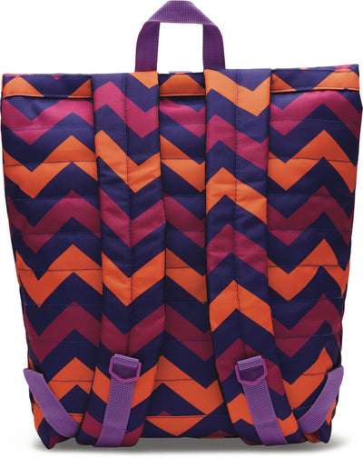 Multi Chevron Printed Stand-Up Backpack