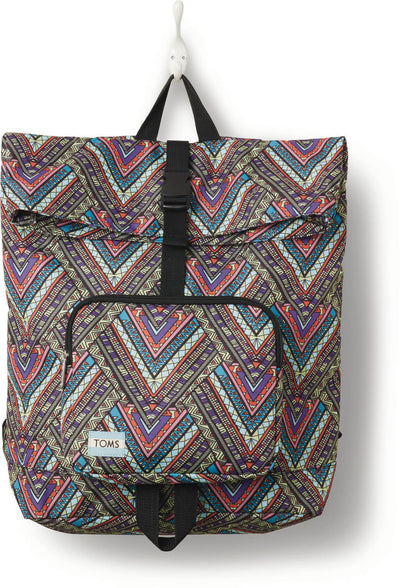 Multi Tribal Printed Stand-Up Backpack