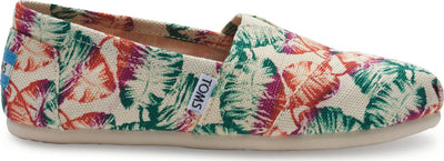 Multi Burlap Tropical Women's Classic Alpargata