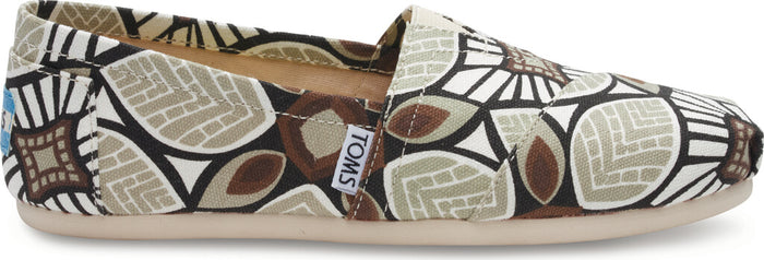 Taupe Canvas Abstract Women's Classics