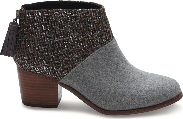 Grey Felt Shine Boucle Women's Leila Bootie