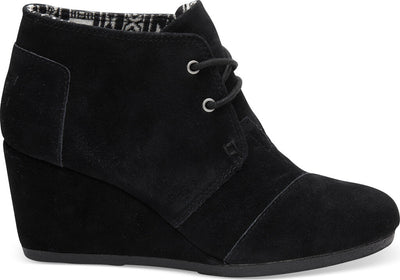 Black Suede Women's Wedge