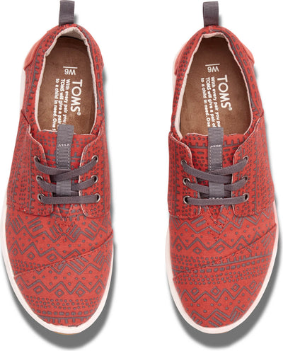 Red Canvas Tribal Women's Del Rey Sneaker