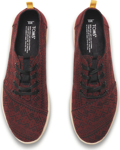 Oxblood Tribal Print Men's Viaje Sneaker