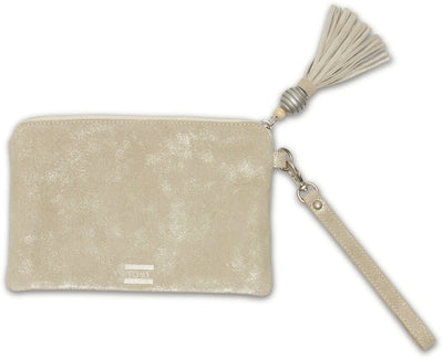 Platinum Metallic Pouch