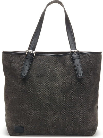 Black Woven Texture Mix Tote
