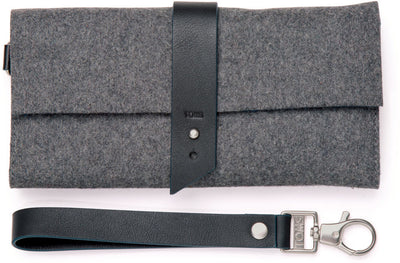 Charcoal Heavy Felt Wallet