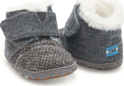 Grey Felt Tweed Tiny TOMS Cuna Lay