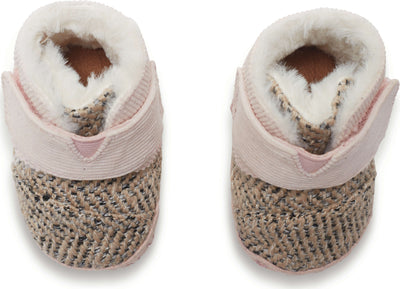 Pink Felt Tweed Tiny TOMS Cuna Lay