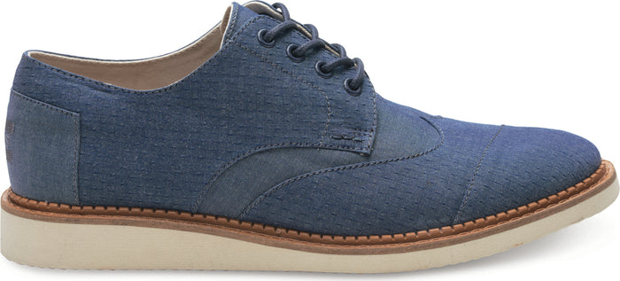 Blue Chambray Men's Classic Brogue